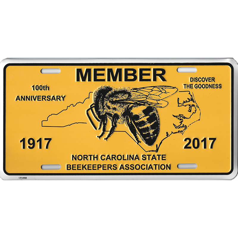 NCSBA Anniversary Member Vehicle Tag