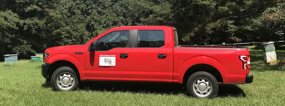 Truck purchased by NCSBA for NCSU Apiculture Program